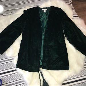 Velvet blazer from H & M